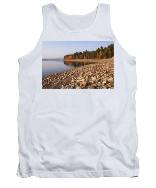 Tank Top featuring the photograph Autumn Lake by Andrew Soundarajan