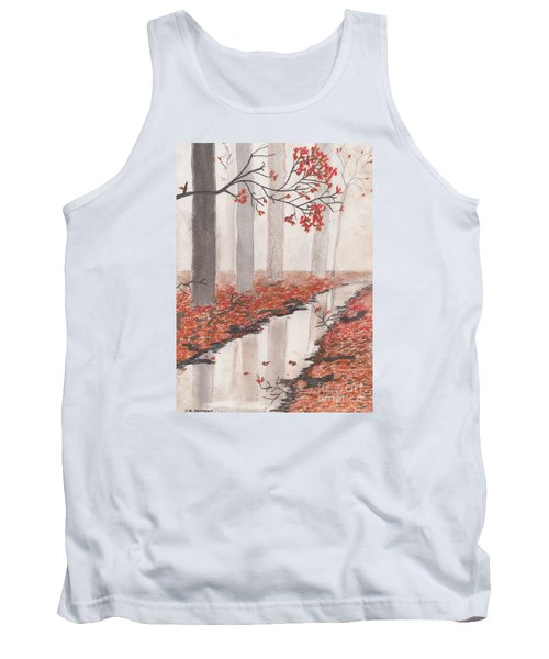 Autumn Leaves Tank Top by David Jackson