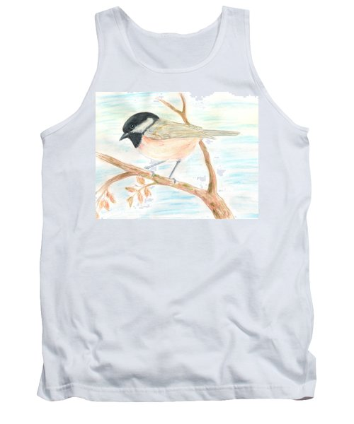 Tank Top featuring the painting Autumn Visitor by Stephanie Grant