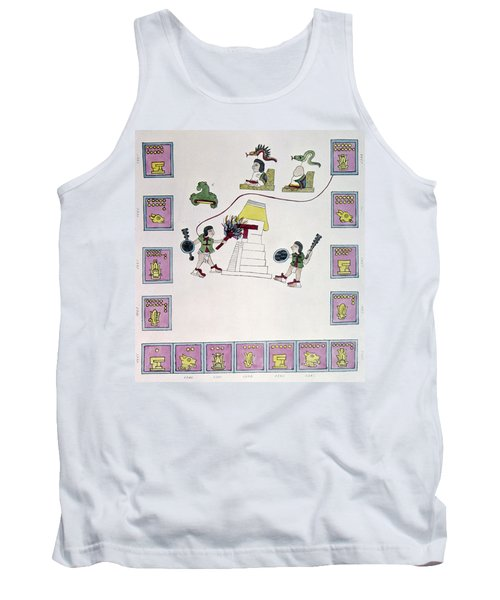Aztec Burning A Temple Tank Top