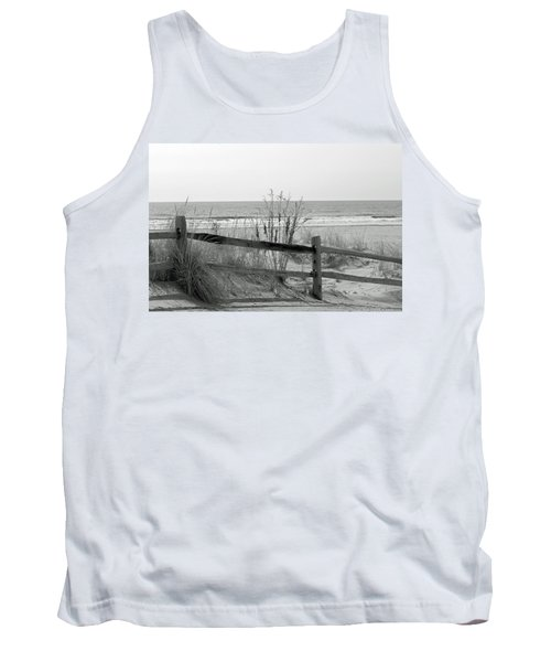 B And W Beach Tank Top by Greg Graham