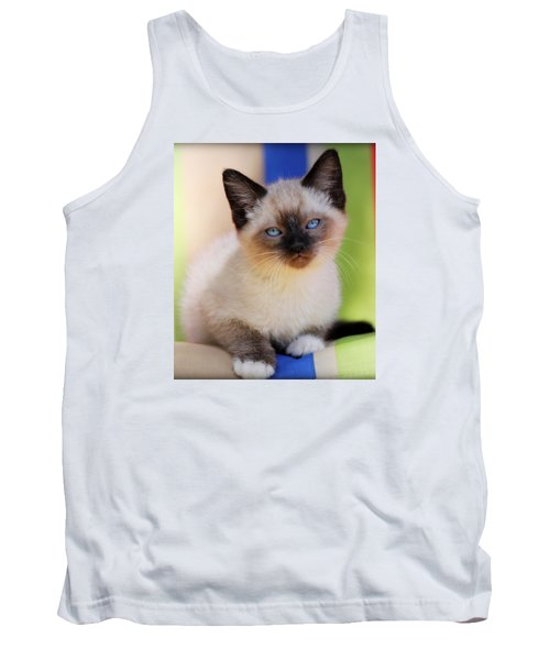 Tank Top featuring the photograph Baby Blues by Melanie Lankford Photography