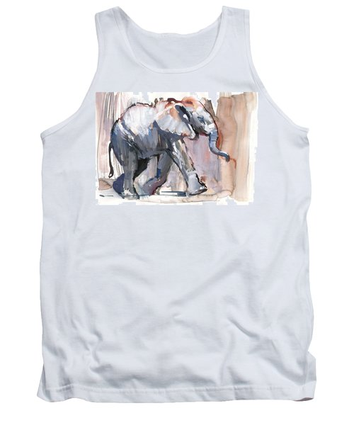 Baby Elephant, 2012 Mixed Media On Paper Tank Top