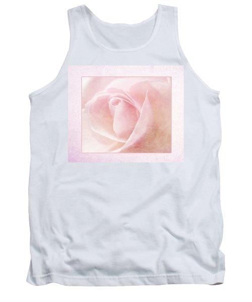 Baby Pink Rose Tank Top by Lynn Bolt