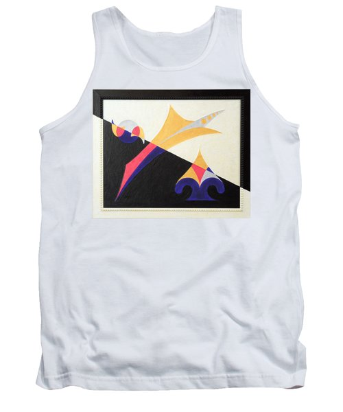 Tank Top featuring the painting Balancing Act by Ron Davidson