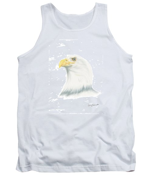 Tank Top featuring the drawing Bald Eagle by Terry Frederick