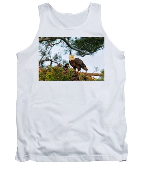 Bald Eagle With Eaglets  Tank Top
