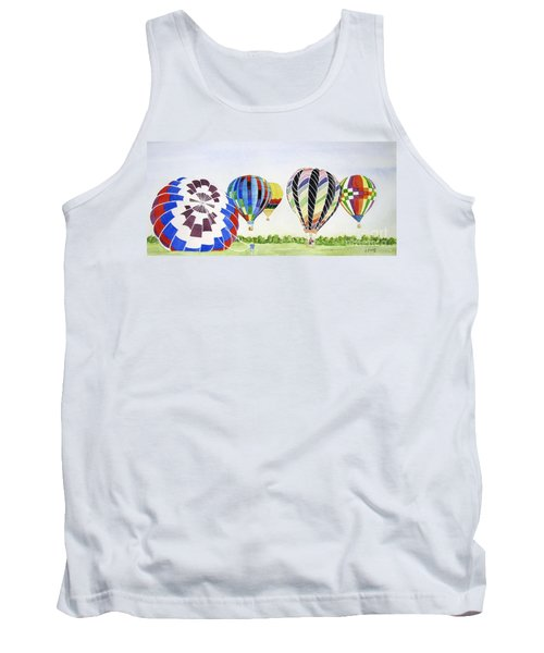 Tank Top featuring the painting Balloons by Carol Flagg