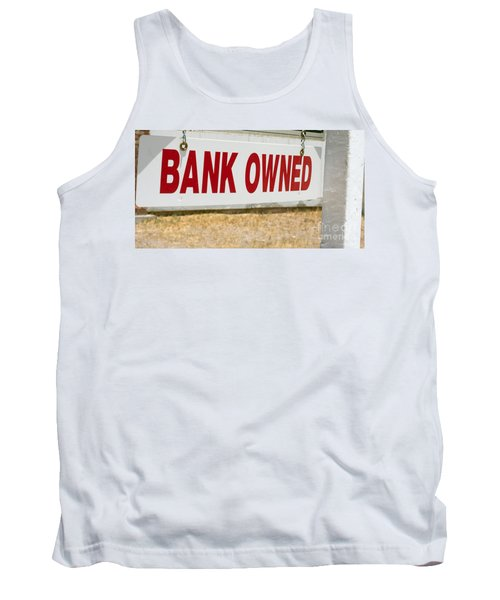 Bank Owned Real Estate Sign Tank Top