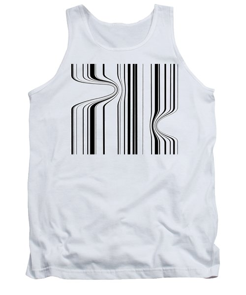 Tank Top featuring the painting Barcode  C2014 by Paul Ashby