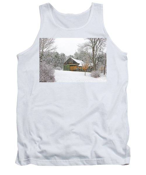 Barn In Winter Tank Top