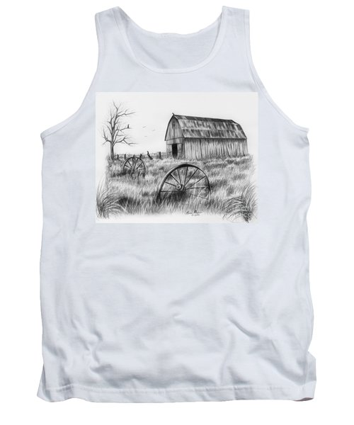 Barn With Crows Tank Top by Lena Auxier