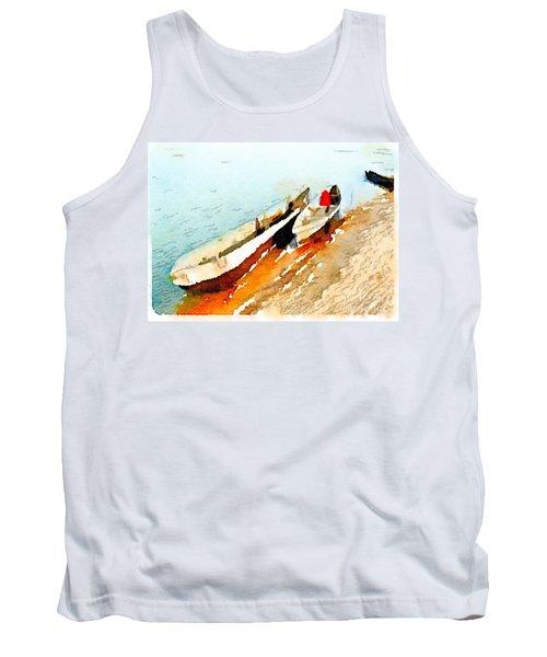 Barques Sur Le Chari Tank Top
