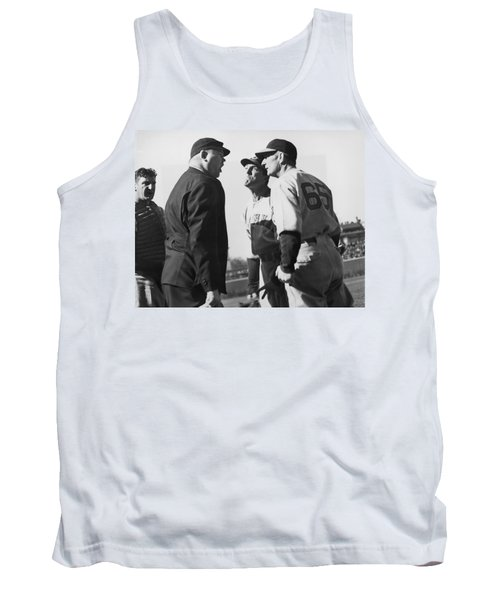 Baseball Umpire Dispute Tank Top by Underwood Archives