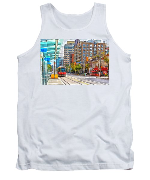 Bathurst Street Car Coming North To Queen Street Tank Top by Nina Silver