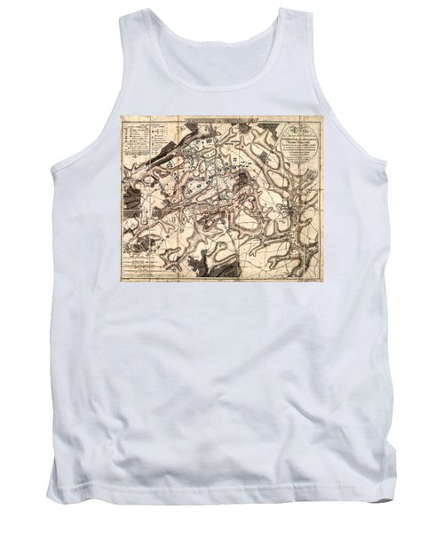 Battle Of Waterloo Old Map Tank Top