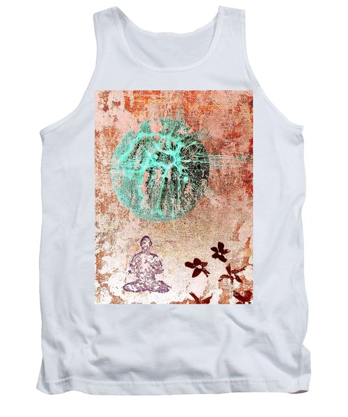 Tank Top featuring the painting Be The Buddha by Jacqueline McReynolds
