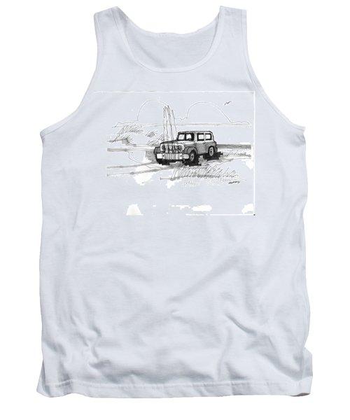 Beach Buggy Ocracoke 1970s Tank Top