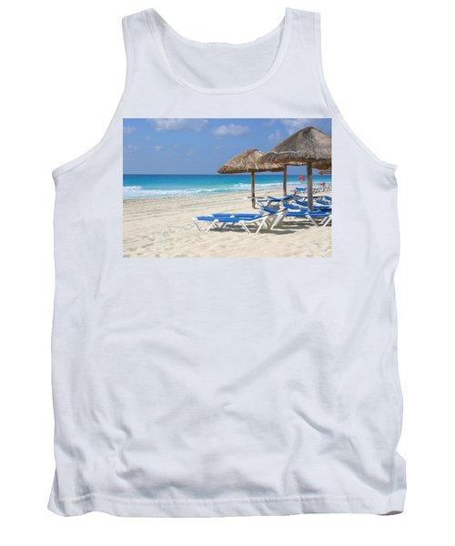Beach Chairs In Cancun Tank Top