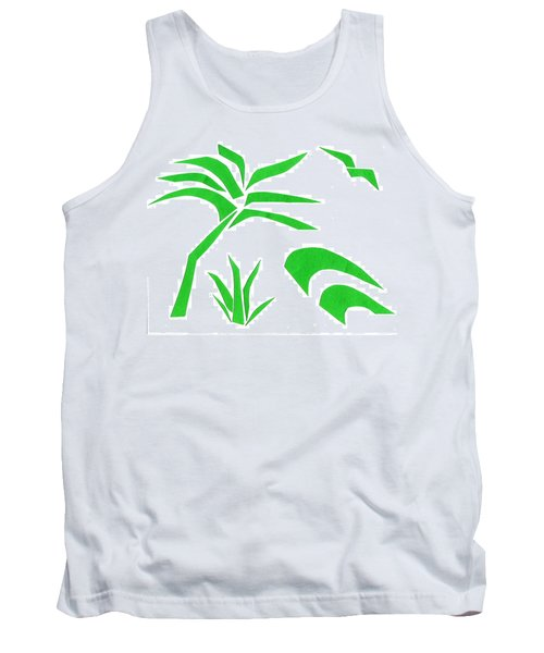 Tank Top featuring the mixed media Beach by Delin Colon