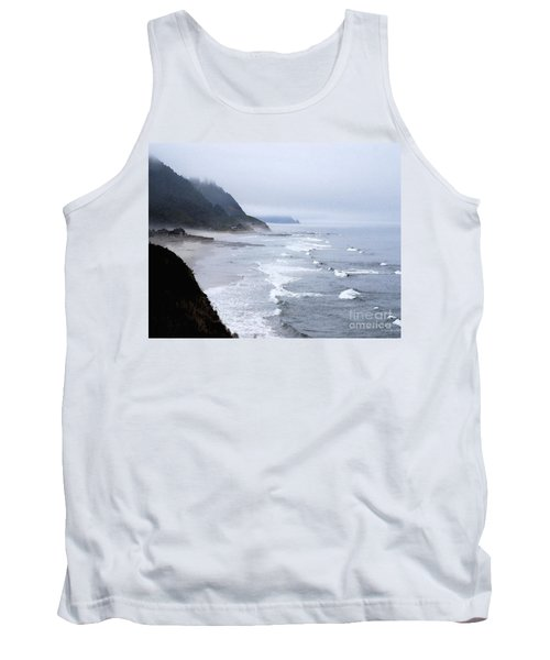 Beach Frontage In Monet Tank Top