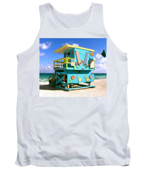 Beach Life In Miami Beach Tank Top