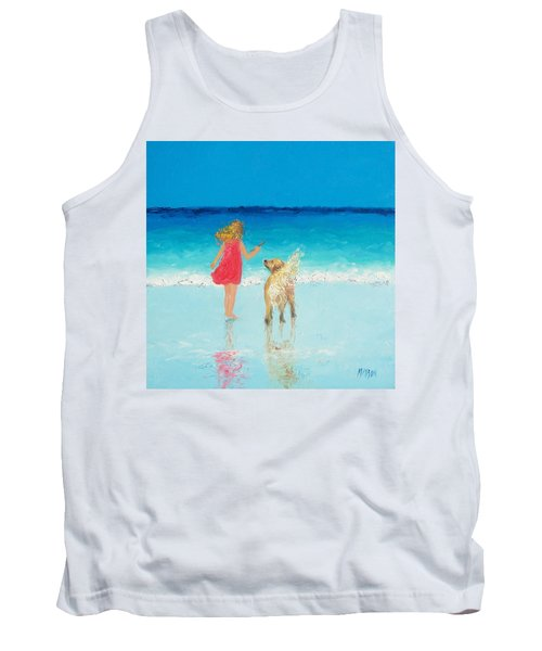 Beach Painting 'sunkissed Hair'  Tank Top