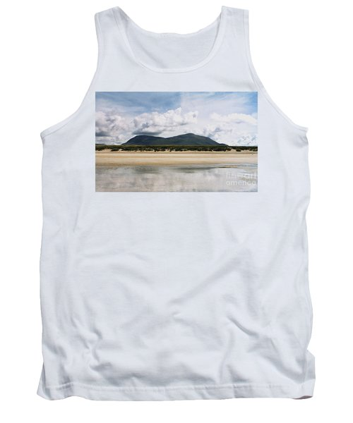 Tank Top featuring the photograph Beach Sky And Mountains by Rebecca Harman