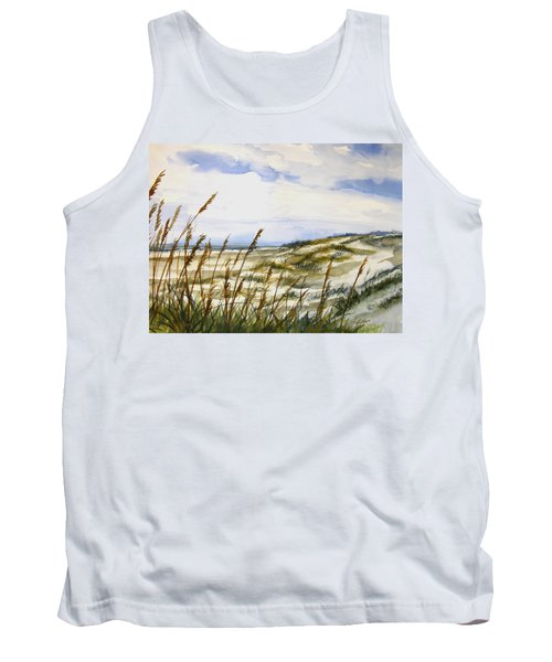 Beach Watercolor 3-19-12 Julianne Felton Tank Top