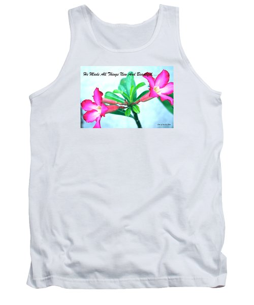 Beautiful Flower Tank Top by Lorna Maza