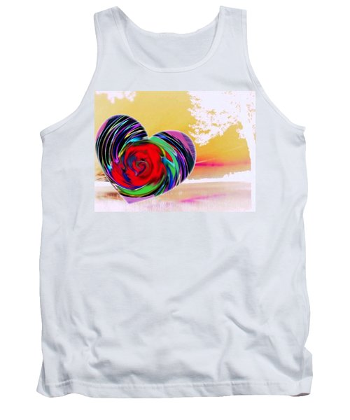 Tank Top featuring the digital art Beautiful Views Exist by Catherine Lott