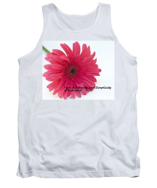Tank Top featuring the photograph Beauty And Simplicity by Patrice Zinck