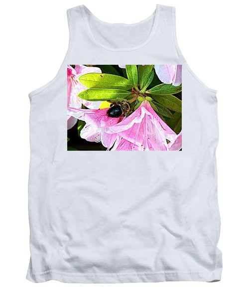 Bee On  Pink Azalea Tank Top