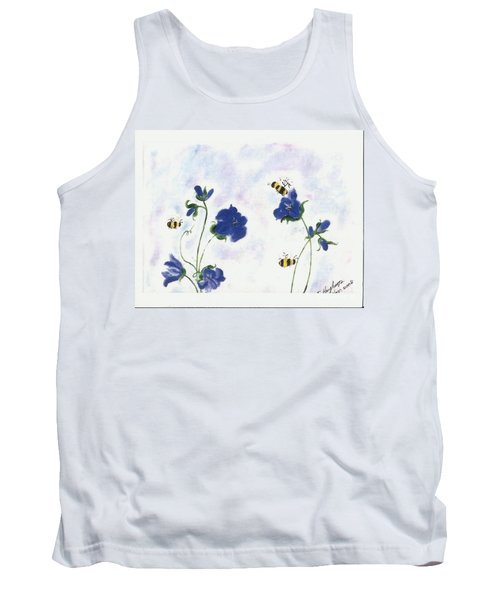 Bees At Lunch Time Tank Top