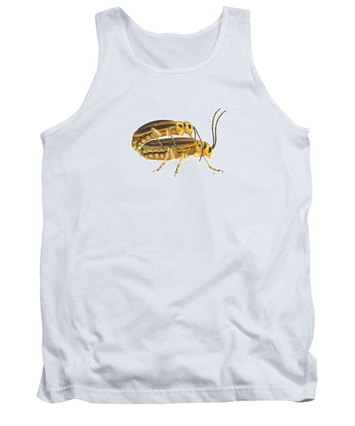 Chrysomelid Beetle Mating Pose Tank Top by Cindy Hitchcock