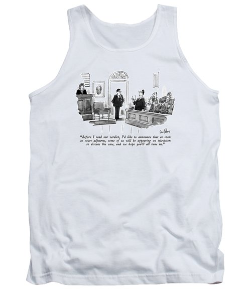 Before I Read Our Verdict Tank Top