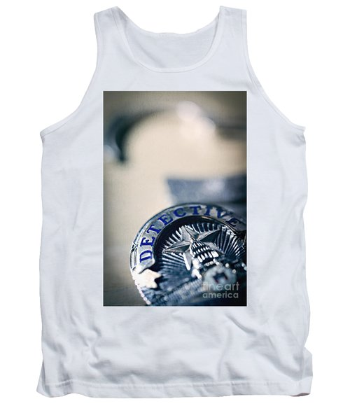 Tank Top featuring the photograph Behind The Badge by Trish Mistric