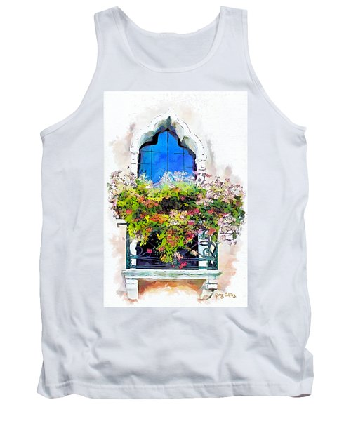 Tank Top featuring the painting Bei Fiori by Greg Collins
