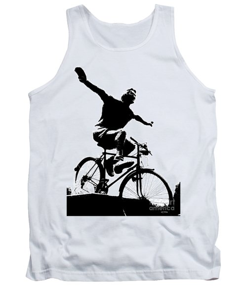 Bicycle - Black And White Pixels Tank Top