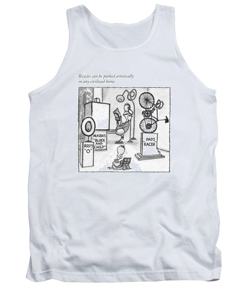 Bicycles Can Be Parked Artistically In Any Tank Top