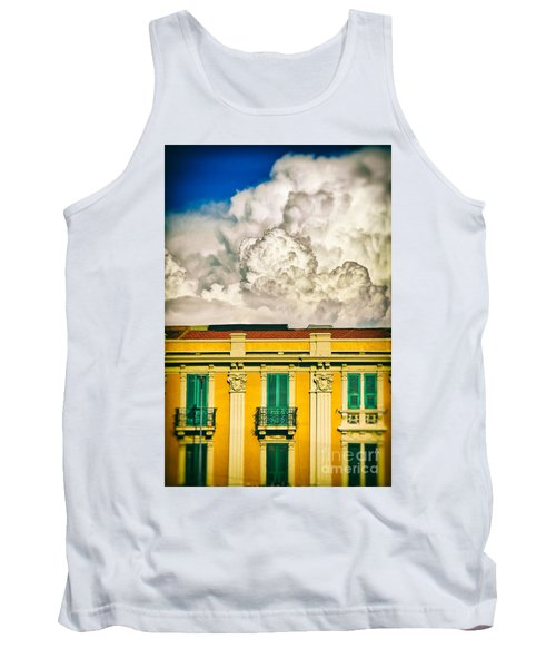 Tank Top featuring the photograph Big Cloud Over City Building by Silvia Ganora