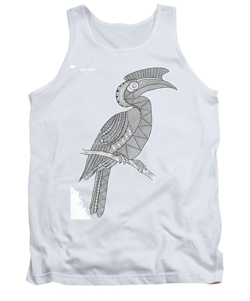 Bird Hornbill Tank Top by Neeti Goswami