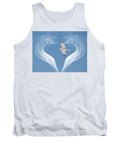 Tank Top featuring the photograph Bird In Flight by Athala Carole Bruckner