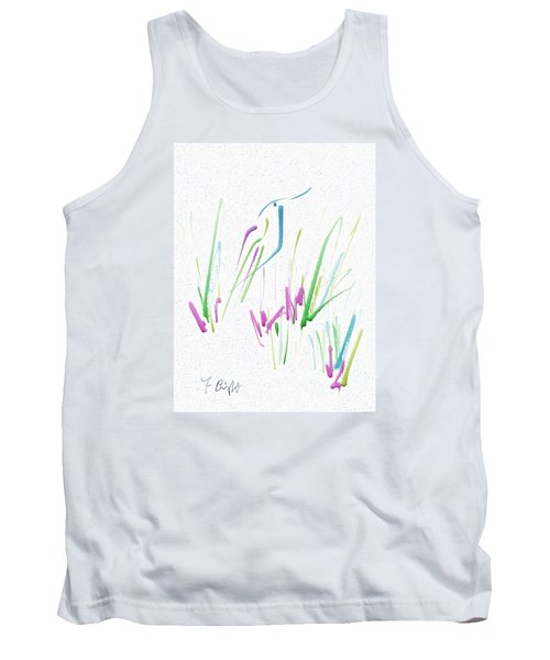 Tank Top featuring the digital art Bird In The Grass by Frank Bright
