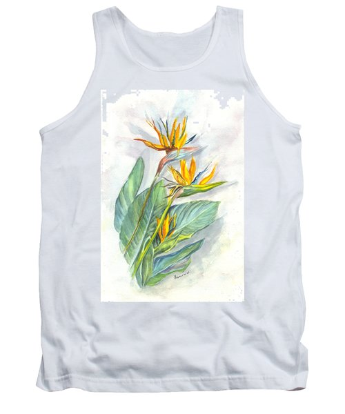 Bird Of Paradise Tank Top by Carol Wisniewski