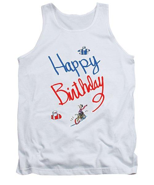 Birthday Bicycle Painter Tank Top