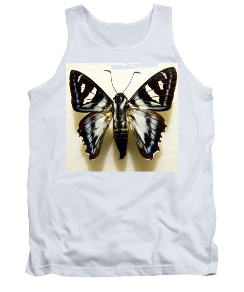 Tank Top featuring the photograph Black And White Moth by Rosalie Scanlon