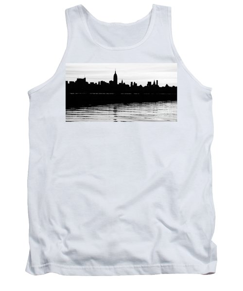 Tank Top featuring the photograph Black And White Nyc Morning Reflections by Lilliana Mendez