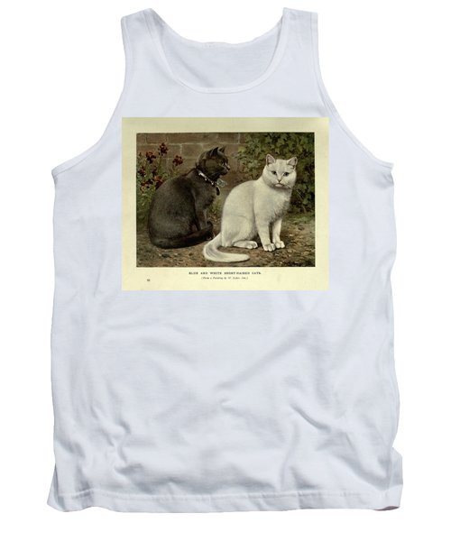 Black And White Short-haired Cats Tank Top