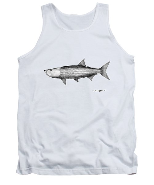 Black And White Tarpon Tank Top